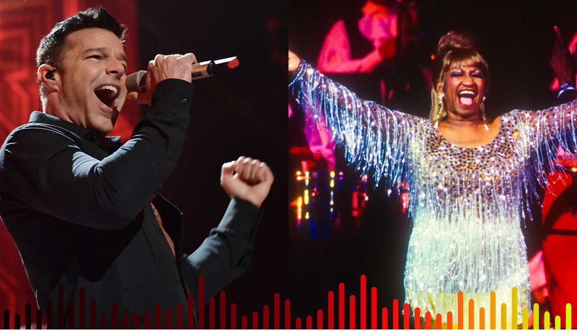 Ricky Martin y Celia Cruz