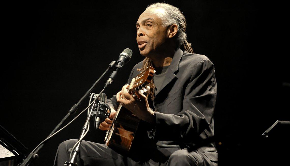 Gilberto Gil durante el festival de jazz de Londres, Inglaterra, 2009.