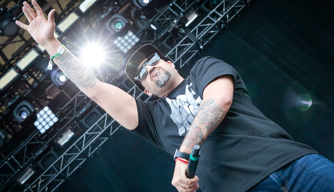 B-Real performs with Cypress Hill on Day 1 of the Osheaga Music and Art Festival at Parc Jean-Drapeau on July 29, 2016 in Montreal, Canada.  (Photo by Mark Horton/WireImage)