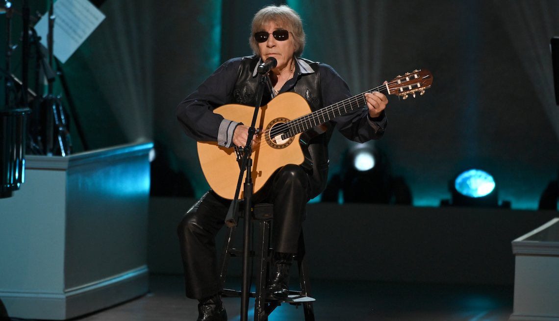Singer Jose Feliciano performs at the 2019 Gershwin Prize Honoree's Tribute Concert at DAR Constitution Hall on March 13, 2019 in Washington, DC.