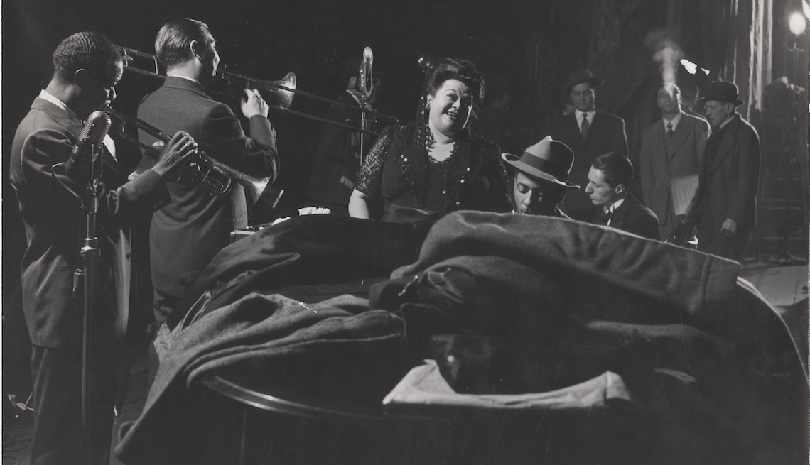 item 3, Gallery image. Mildred Bailey at the Esquire Jam Session at the Metropolitan Opera House, New York, New York, 1944.