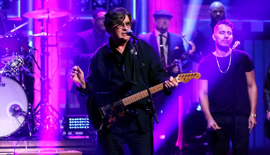 item 9 of Gallery image - Musical guest Robbie Robertson performs on 'The Tonight Show' October 2, 2019.