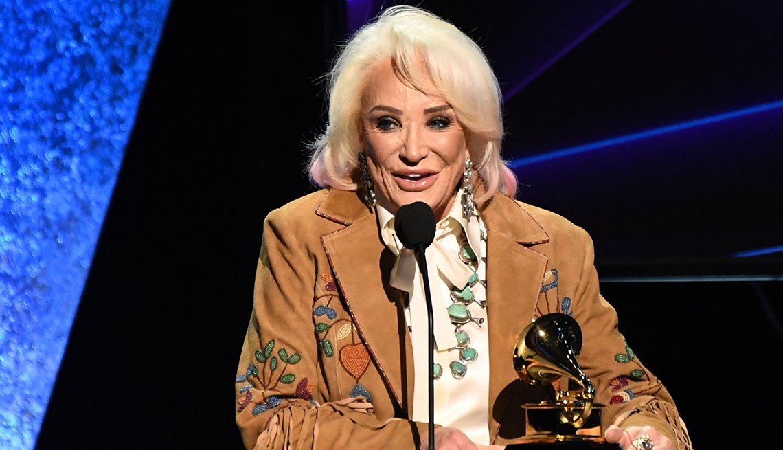 Tanya Tucker accepts the award for Best Country Song during the 62nd Annual Grammy Awards