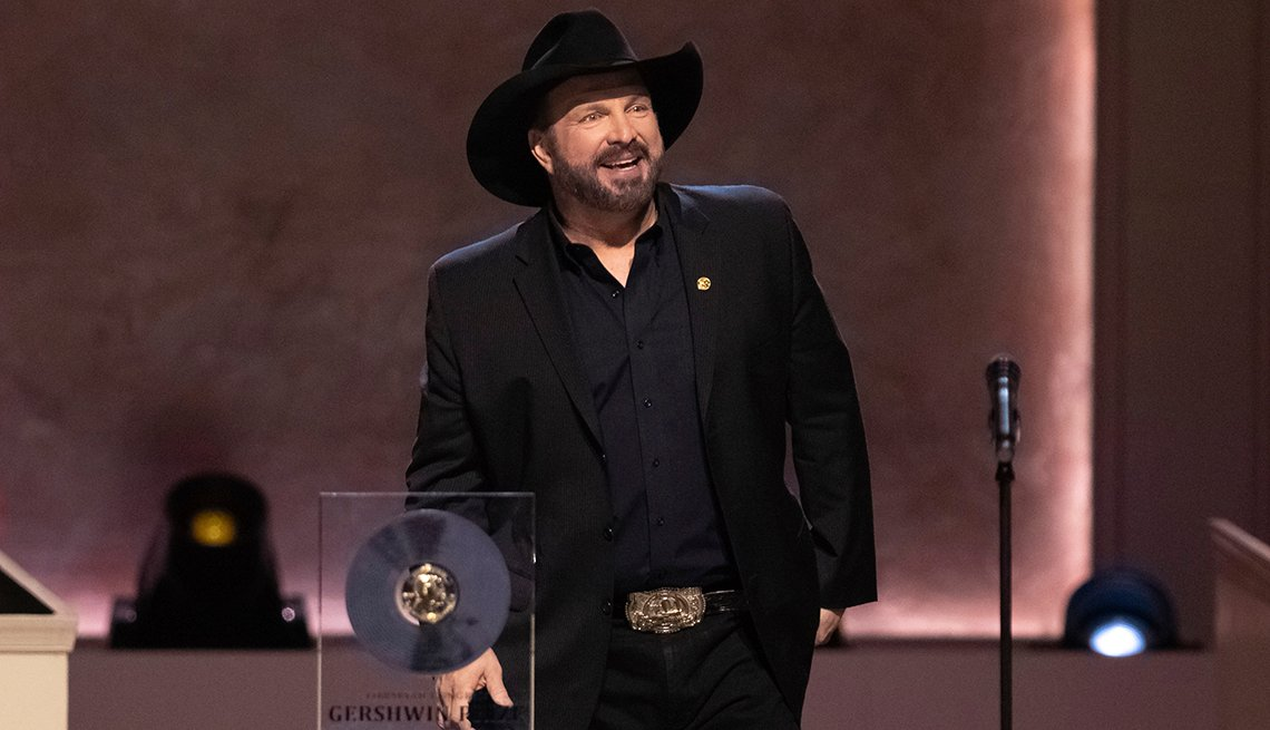 Honoree Garth Brooks speaks on stage during the 2020 Gershwin Prize Honorees Tribute Concert at the D A R Constitution Hall on Wednesday March 4 2020 in Washington