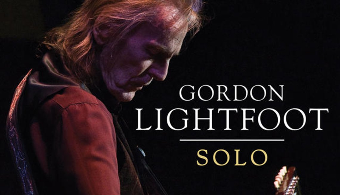 The cover image for Gordon Lightfoot's new album shows him playing an acoustic guitar