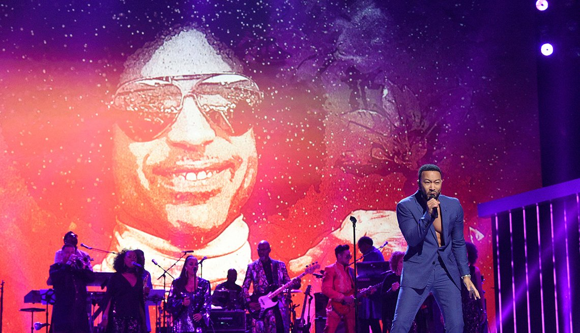 John Legend performs onstage during the 62nd Annual GRAMMY Awards Lets Go Crazy The GRAMMY Salute To Prince