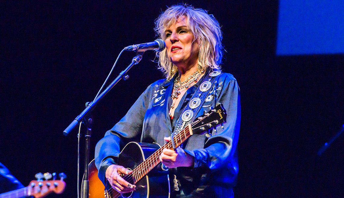 Lucinda Williams performs at The Barbican in London England