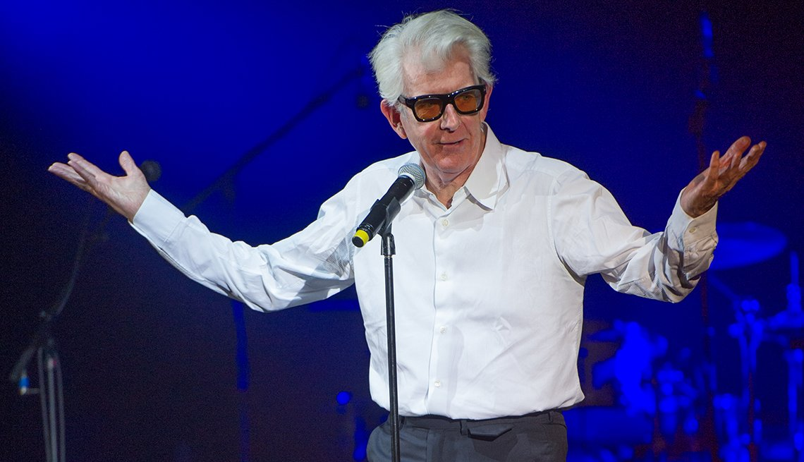 Singer songwriter Nick Lowe talks about his career at the fifth Annual U K Americana Awards