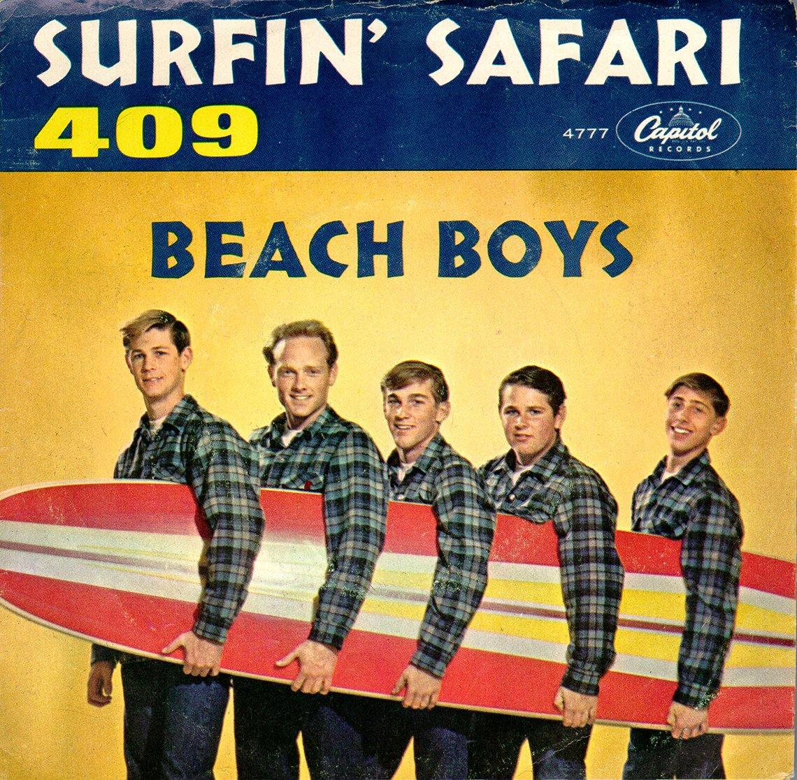 The album cover for The Beach Boys Surfin Safari record