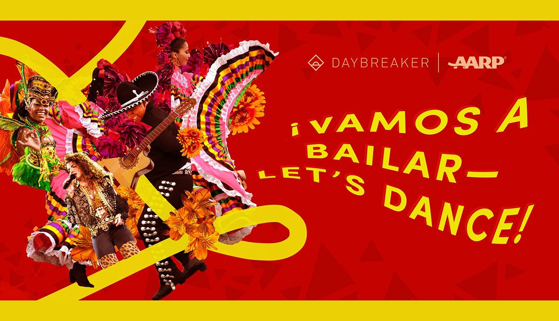 An illustration for the Vamos a Bailar virtual dance party