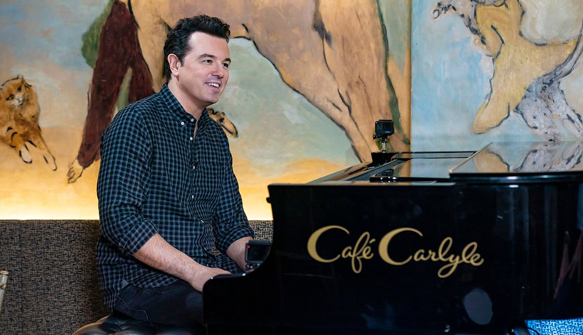 Seth MacFarlane and Willie Geist on June 25, 2019