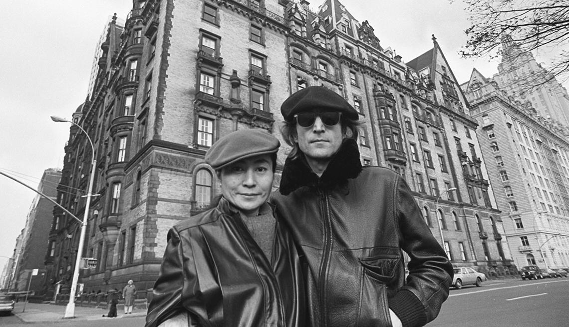 Yoko Ono y John Lennon en Nueva York, noviembre 1980