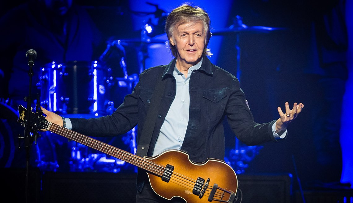Paul McCartney performs at The O2 Arena in London, England
