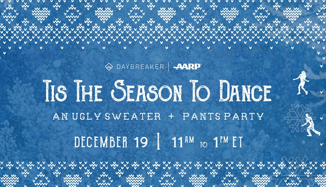 A graphic for the Tis the Season to Dance: An Ugly Sweater and Pants Party