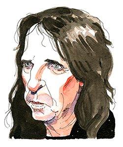 alice cooper illustration portrait