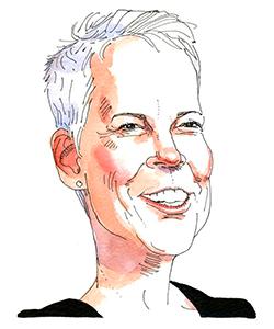 Illustration of Jamie Lee Curtis