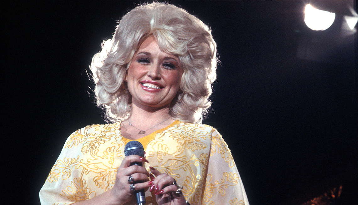 Dolly Parton performs onstage in 1975