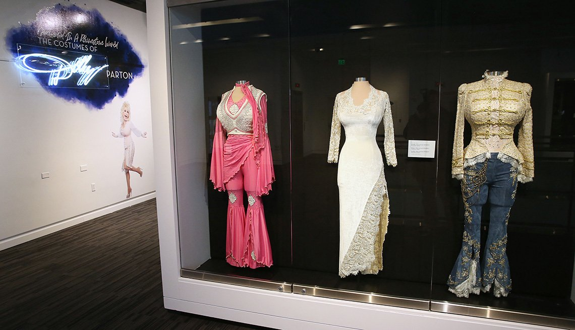 Dolly Parton's costumes displayed at The GRAMMY Museum