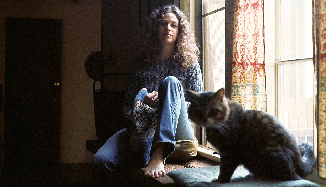 """La foto de portada del álbum de Carole King """"Tapestry""""."""
