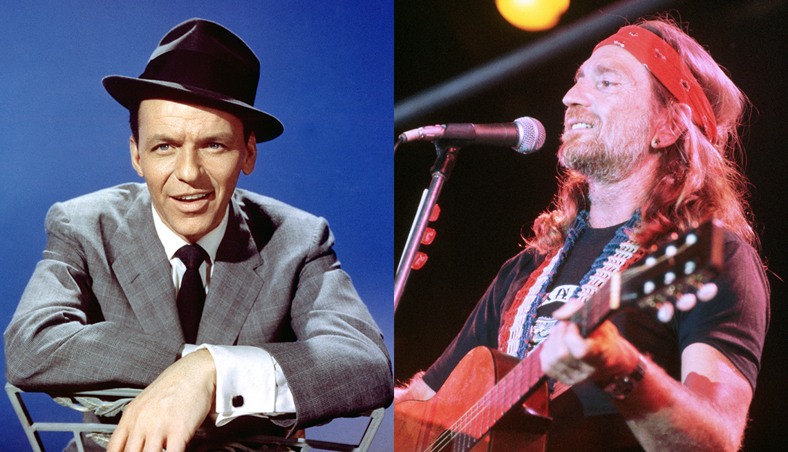 music and cultural icons frank sinatra and willie nelson