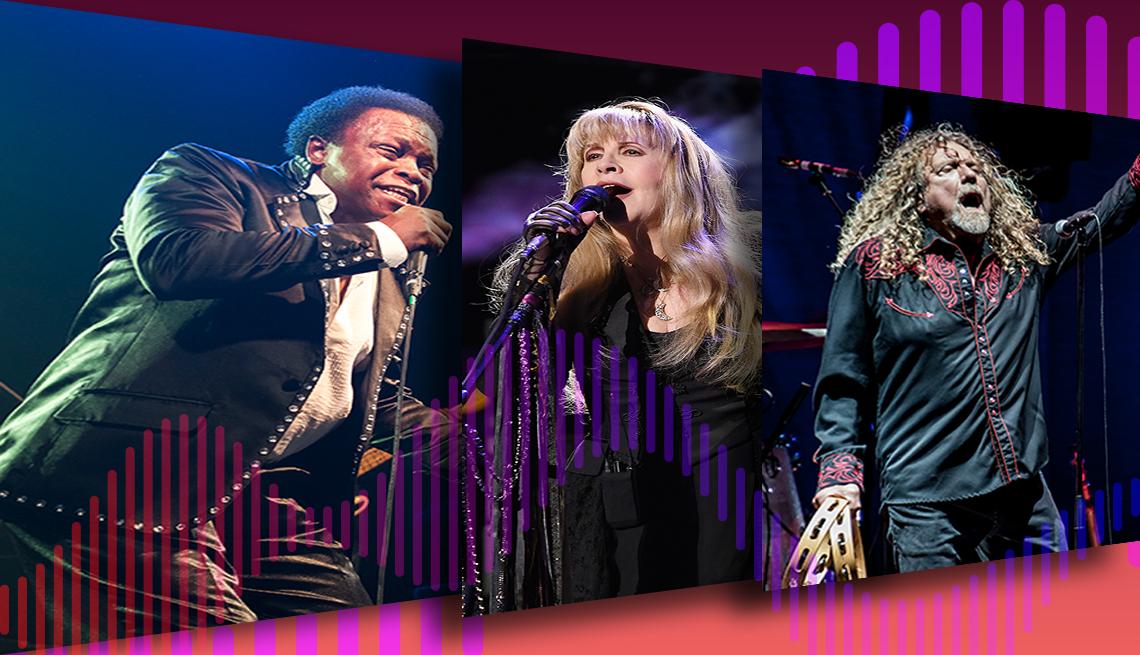 Lee Fields, Stevie Nicks, y Robert Plant.