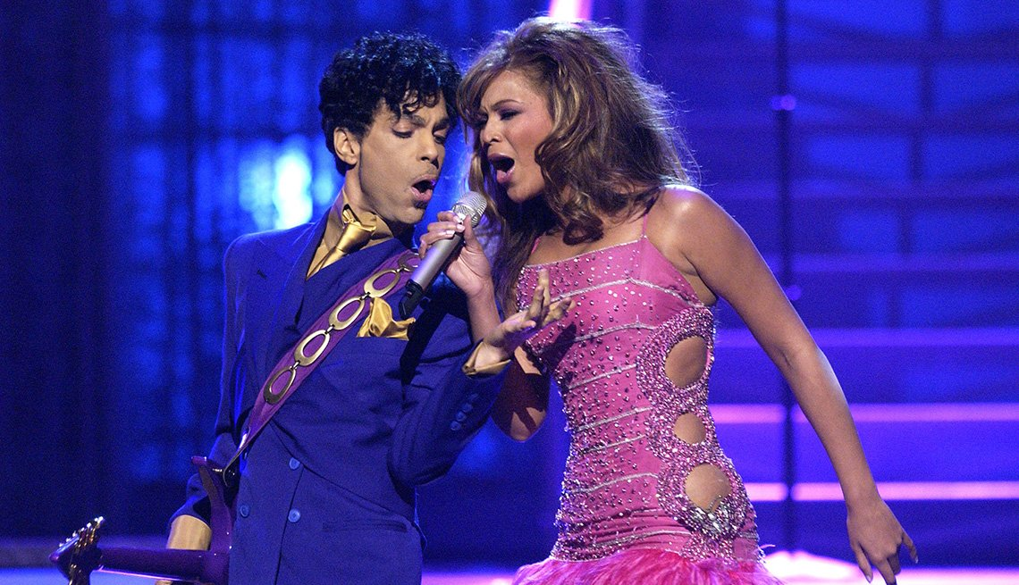 Prince and Beyonce perform at the Grammy Awards