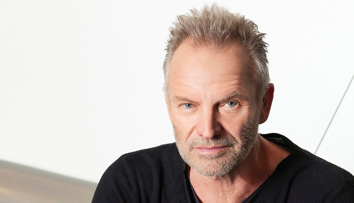 Sting sitting for a portrait
