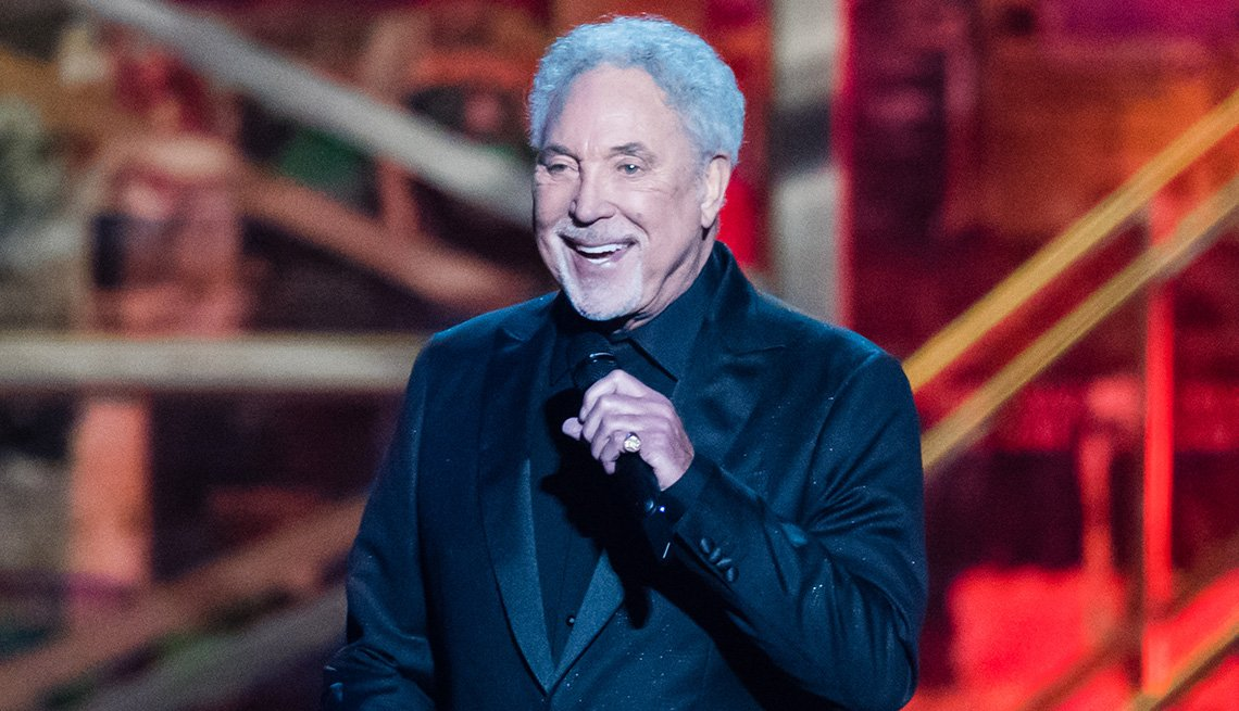Singer Tom Jones onstage at The BRIT Awards 2020