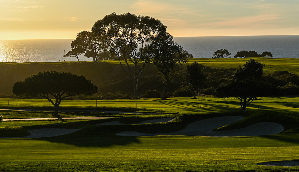 Torrey Pines South golf course in San Diego, California