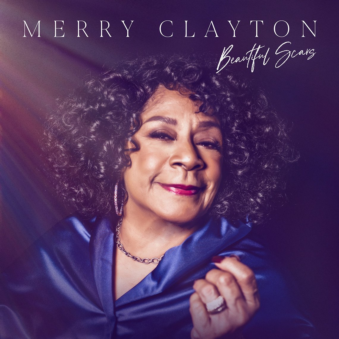 The cover art for Merry Clayton's album Beautiful Scars