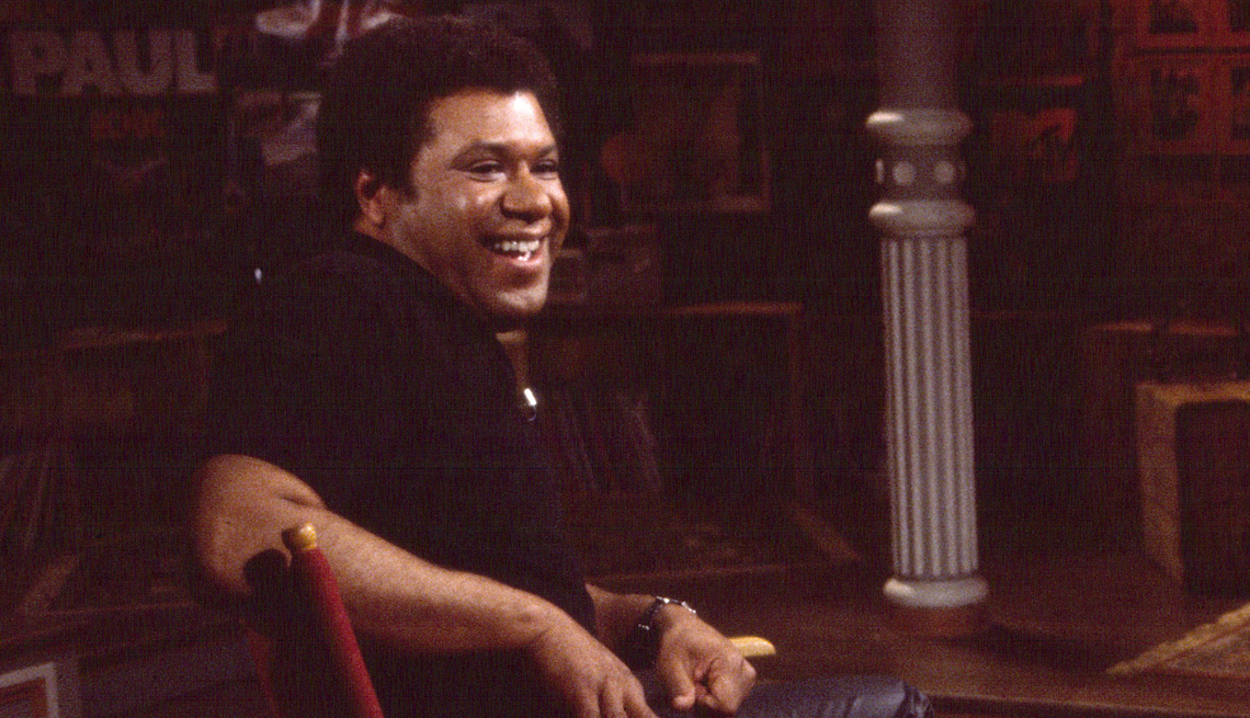 a photo of j j jackson from when he worked at m t v in nineteen eighty one