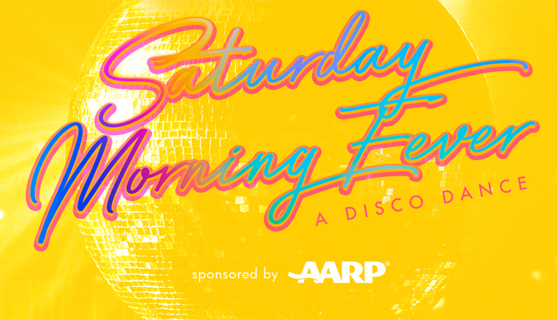 saturday morning fever ad for a dance party
