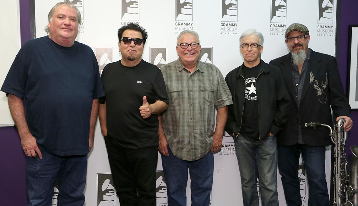 Members of the music group Los Lobos