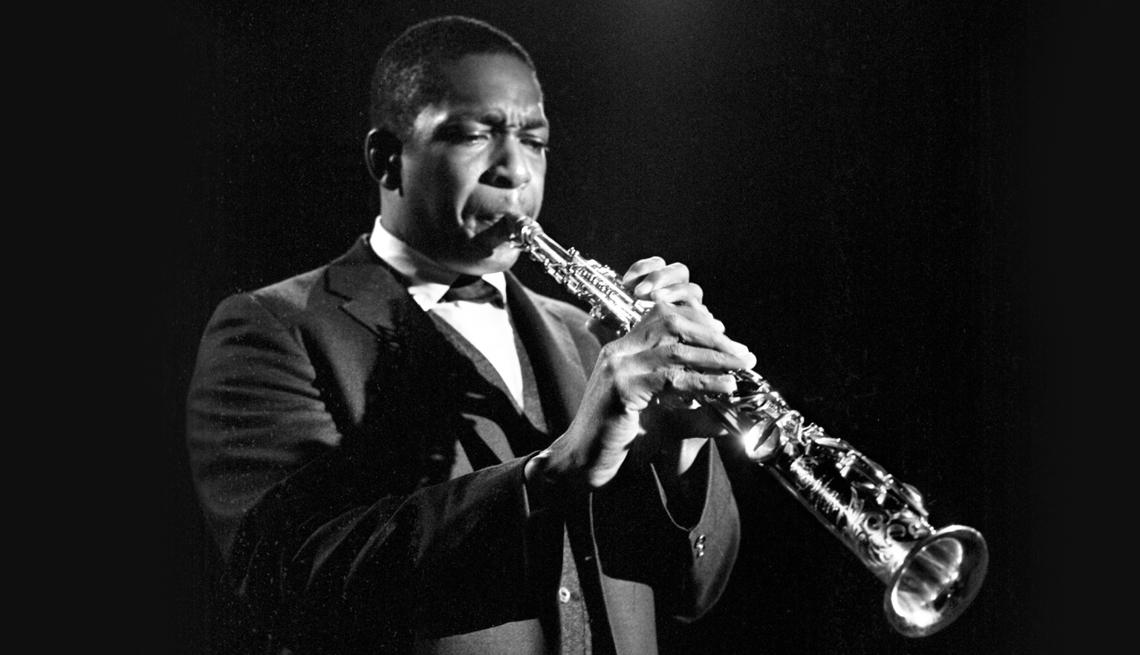 jazz saxophonist john coltrane nineteen sixty three
