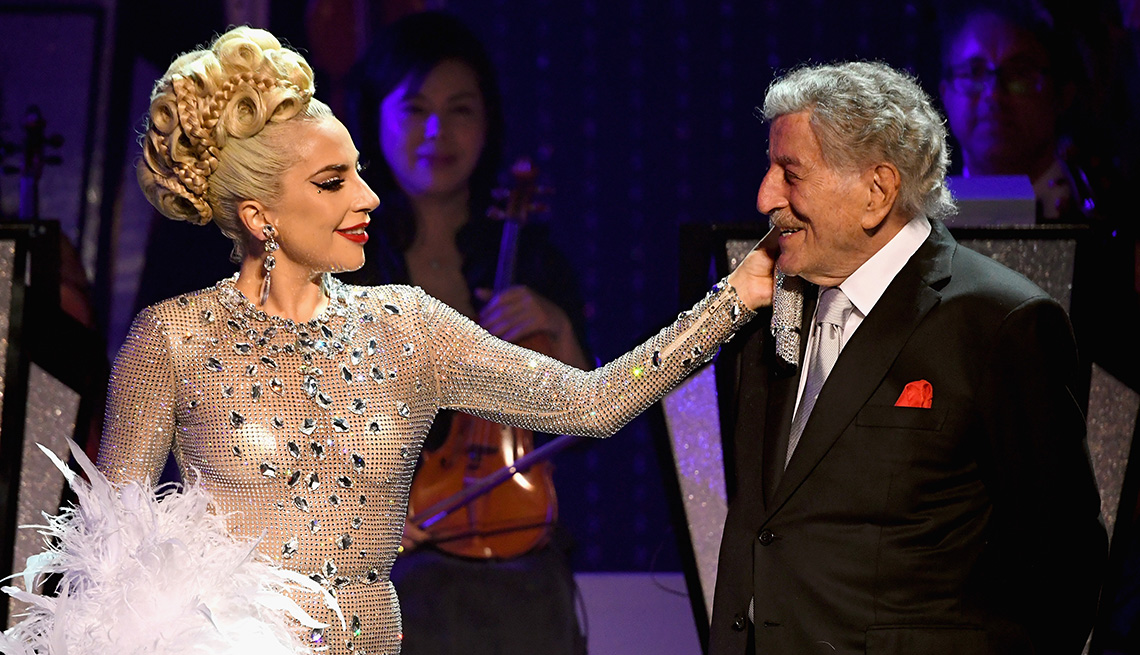 Lady Gaga performs onstage with Tony Bennett