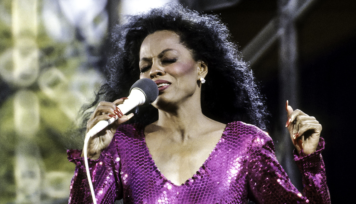 Diana Ross performs on stage during her concert in Central Park in New York