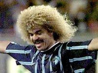 Carlos - El Pibe - Valderrama, jugador de fútbol colombiano