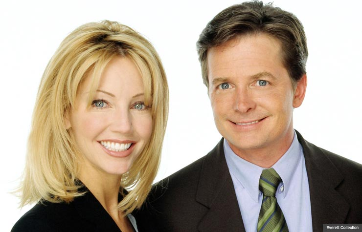 Heather Locklear and Michael J. Fox in Spin City