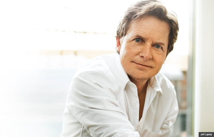 Michael J. Fox photographed by Jeff Lipsky in New York City.