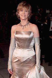 Jane Fonda en la entrega de los premios Oscar, 2000