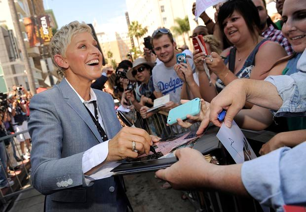 Talk show host and comedian Ellen DeGeneres, 50-plus celebrity