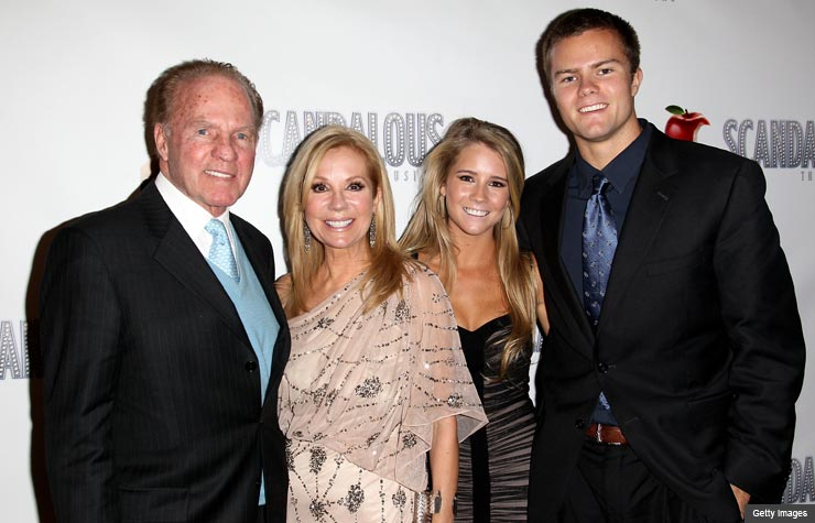Frank Gifford, Kathie Lee Gifford, Cassidy Gifford and Cody Gifford (Getty Images)