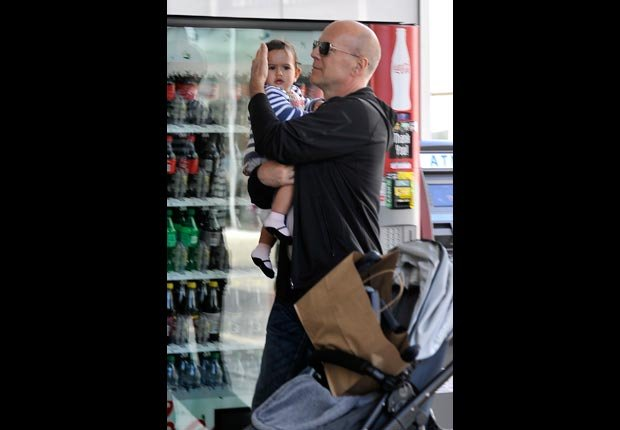 Bruce Willis with daughter Mabel Ray Willis (Fern/VLUV/Splash News/Corbis)