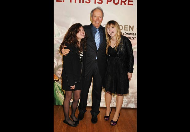 Clint Eastwood with daughters Morgan and Francesca (Dave M. Bennett/Getty Images)