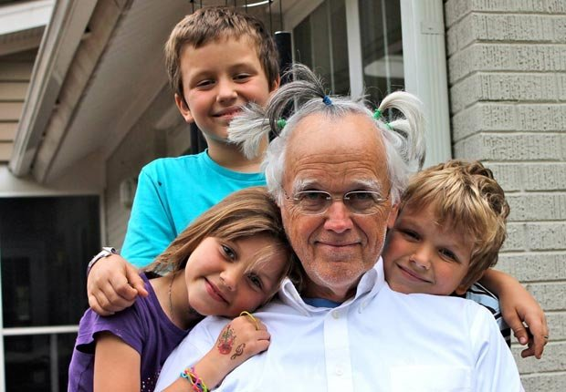 Author Clyde Edgerton with his three children (Courtesy Clyde Edgerton)