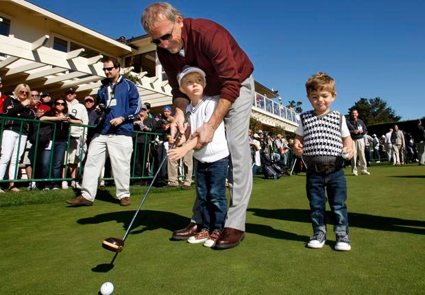 Kevin Costner with sons Cayden and Hayes (Monterey Herald/Zuma Press/Corbis)
