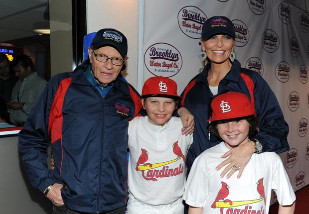 Larry King with his wife Shawn and their sons Chance and Cannon (Amanda Edwards/FilmMagic/Getty Images)