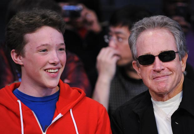 Warren Beatty and son Benjamin (Robyn Beck/AFP/Getty Images)