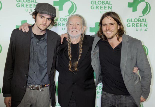 Willie Nelson with sons Jacob and Lukas (Gregg DeGuire/WireImage/Getty Images)