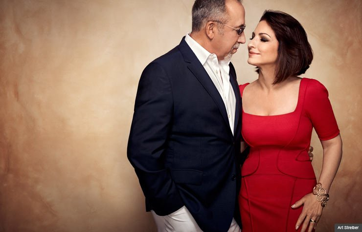 item 3, Gallery image. Gloria Estefan and husband Emilio Estefan at their home in Miami, Florida photographed on May 10, 2013.